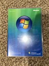 Microsoft Windows Vista Anytime Upgrade Disc And Case Slightly Used