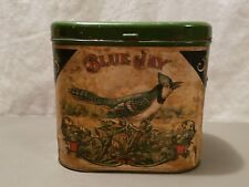 Blue Jay Cigar 5 Cent Tobacco Tin Cigar Advertising Factory 84 Paper Label
