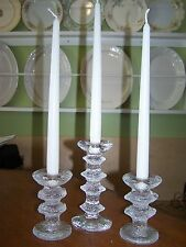 3  Iittala Finland Festivo Candle Sticks by Timo Sarpaneva two are signed!