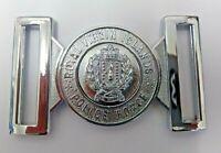 Genuine The Royal Virgin Islands Police Force Belt Buckle Chrome Locket MFB06