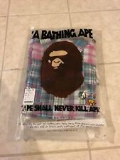 cf47a5d4b Rare A Bathing Ape Flannel Button Pink Up 100% Authentic Pre-owned