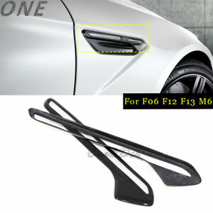 Carbon Fiber Side Fender Cover for BMW M Ser M6 F06 F12 F13 Air Vents Trim Grill
