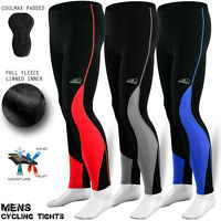 Mens Cycling Tights Padde Trousers Winter Thermal Legging Pant Cycle Compression