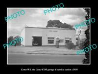 OLD HISTORIC PHOTO OF COMO WEST AUSTRALIA, THE COR OIL Co PETROL STATION 1950