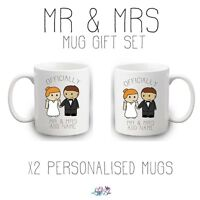 Officially Mr & Mrs Personalised Mug - Set Of Two - Wedding Anniversary Gifts