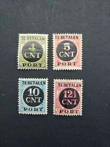 CLASSIC POSTAGE DUES SURCH SET VF MLH NEDERLAND NETHERLANDS B500.3 $0.99