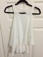 Next White Girls Sleeveless asymmetrical Top Age 8 gr8 4 holidays excellent con