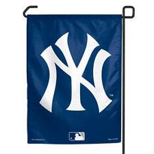 "NEW YORK YANKEES NAVY W/ WHITE NY 11""x14.5"" GARDEN FLAG NEW & LICENSED"