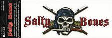 Fishing Poles Skull Salty Bones Decal Bumper Sticker Gifts Fishermen Fish 10-3/4
