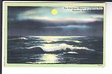 The Full moon Shines on a Rolling Sea at Hampton Beach NH  64034