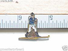 Cross Country Skiing Pin Badge Alpine Skier Pin (Ski#65)