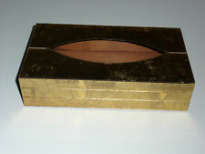 Vintage Tissue Box Cover Glitzy Hollywood Glamour - Gold Ransburg Indianapolis