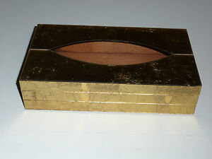 Vintage Tissue Box Cover Glitzy Hollywood Glamour Gold Ransburg Indianapolis