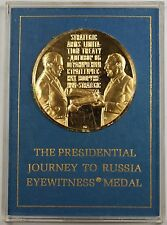 1972 Franklin Mint Gold 24kt plated Sterling The Presidential Journey to Russia