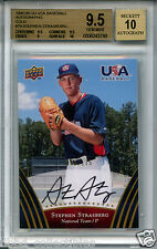 STEPHEN STRASBURG 2008 Upper Deck USA Gold auto 1 of 2 BGS 9.5 GEM NL Cy Young?