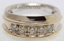 Men's 14K Yellow & White Gold Diamond Ring 10.5