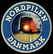 "Denmark - Railway Baggage Label - ""Nordpilen Danmark"" Danish-German Route"