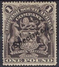 RHODESIA 1898 ARMS SPECIMEN 1 POUND