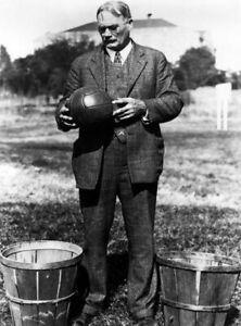 1891 Basketball Inventor PHOTO James Naismith Peach Bushel Basket