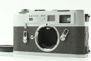 【Mint / Meter Works】 Leica M5 Silver 35mm Rangefinder SLR Film Camera Body Japan