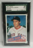 1985 Topps #181 Roger Clemens Boston Red Sox RC Rookie SGC 96 MINT 9