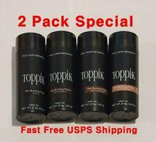 Toppik Hair Building Fibers ✅ 2 Pack ✅ Dark Brown Black Medium Brown Light ✅