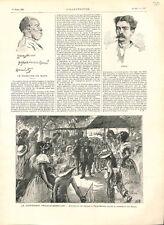 Massacre de Mapa reception Cabral à Para-Belem Brésil/Guyane France GRAVURE 1896