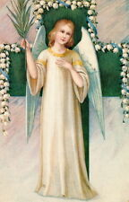 Vintage Art~Beautiful Easter Angel~Cross~Lily of the Valley~NEW Large Note Cards