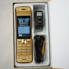 Home brick Retro Vintage Style cell phone c1 long standby quad band gold phone