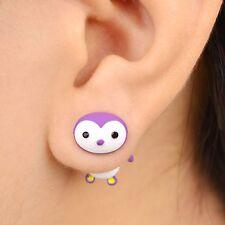 Cartoon Penguin Stud Earrings Alloy Polymer Clay Earring 3D Animal Handmade
