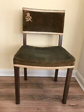 ORIGINAL  RARE GEORGE VI CORONATION CHAIR AND ELIZABETH II CORONATION STOOL