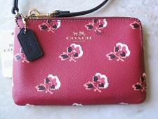 Coach Wristlet Bramble Rose Corner Zip New w Tags..Berry Multi-Color Many Uses!