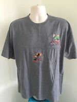 Warner Brothers Pocket T Shirt L Large Graphic Tee 100% Cotton FREE SHIPPING
