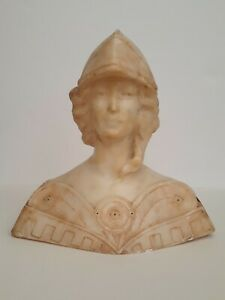 Antique Italian Marble Bust of Athena Goddess of Wisdom
