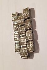NEW Joe Rodeo Rio Women 16mm Diamond Watch Band Link Silver Tone (LOWEST $ EBAY)