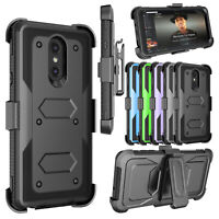 For Samsung Phone Shockproof Case With Belt Clip Kickstand + Screen Protector