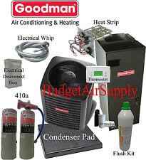 2 ton 14 Seer Heat Pump Goodman Gsz140241+Aruf25B 3.6lb 410a Flush Install Kit