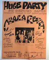 Dallas Texas 1980's Metal Band Flyer CHAZA RETTA Western Hills Inn Original