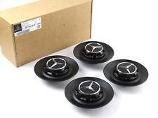 4x Mercedes AMG Hubcap Lid cross Spokes A0004002200 9283 Black Matte