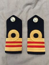 Original British Royal Navy Medical Officer Lieutenant Commander Shoulder Boards