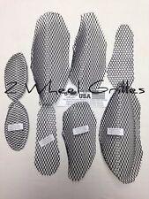 08-18 HAYABUSA GSXR 1300 BLACK FAIRING & NOSE GRILLS SCREENS VENTS MESH GRATES