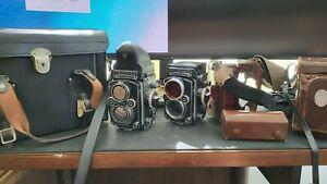 Rolleiflex 3.5f and 2.8f medium format Cameras Good Condition