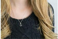NEW Anchor Pendant Charm Gold Silver Necklace Chain Women Fashion Jewelry Gift