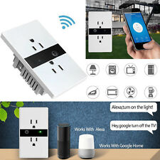 Wifi Outlet Smart Lights Touch Remote Control Wall Switch Plug For Amazon Alexa