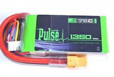 Pulse 11.1V 1350mah 3S 75C Lipo Battery w/ Xt60 : 450 Heli/400 to 450 Multirotor