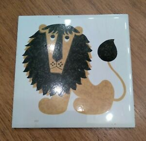 Vintage Kenneth Townsend Felix the Lion Tile Made in England Rare Piece