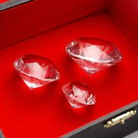 Crystal Clear Paperweight Faceted Cut Glass Giant Diamond Jewelryor Crafts