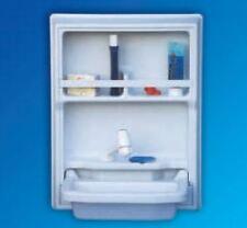 Waschbecken, Klappwaschbecken mit Rückwand weiß Kunststoff, Wohnmobile Wohnwagen