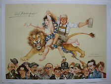 Michael Mathias Prechtl 125 Jahre Oktoberfest München Offset Plakat 1980