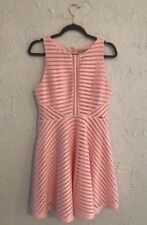 Guess Baby Pink Textured Sweetheart Pleated Dress Size 10